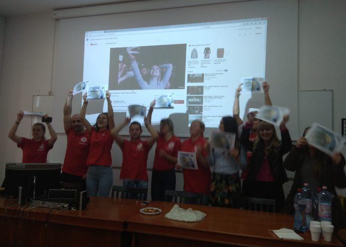 Festivitatea de incheiere a unui proiect studentesc
