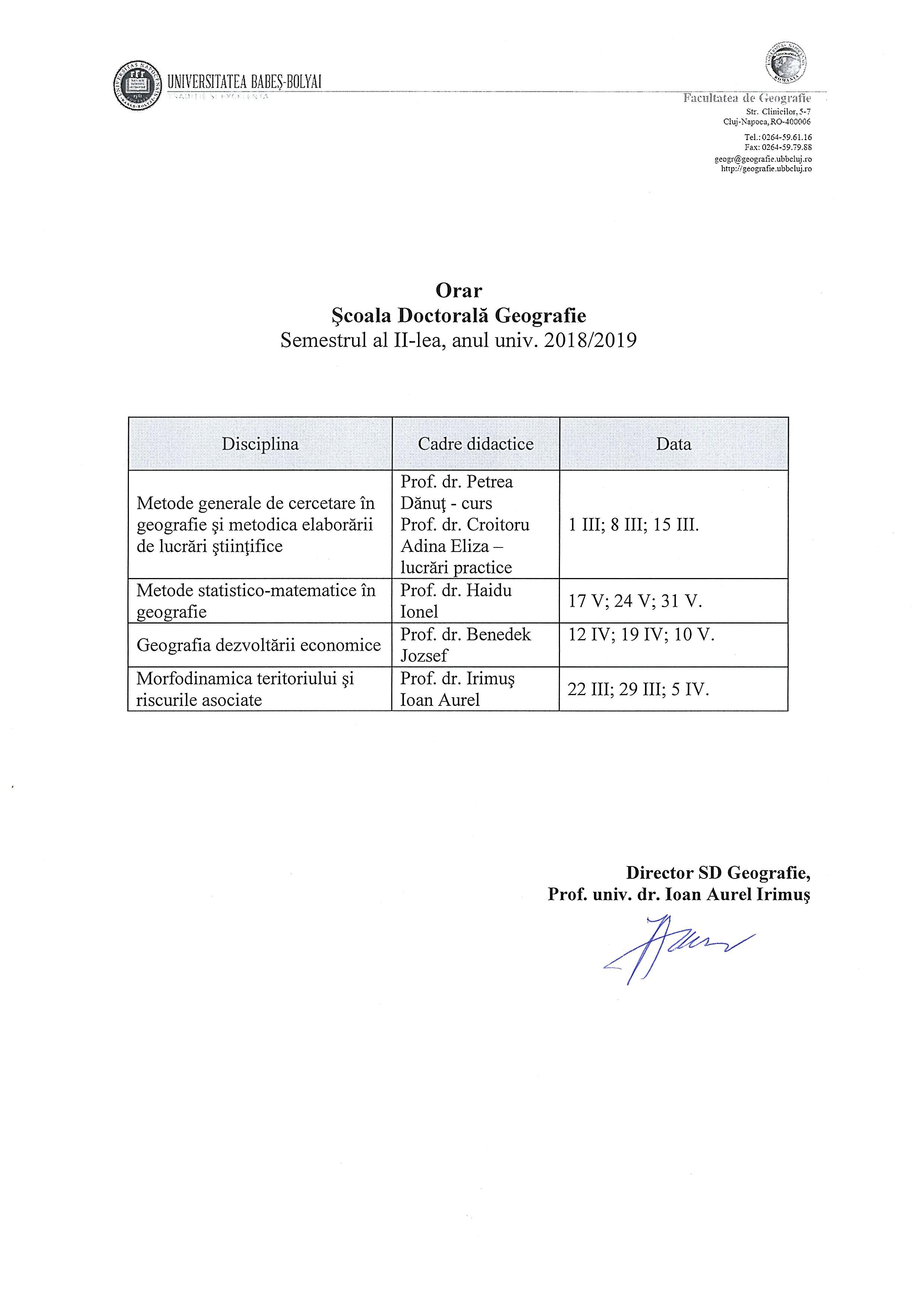 Orarul SD Geografie_2018_2019